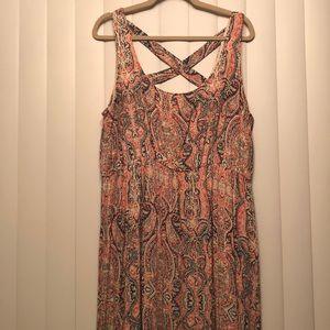 Long multi color dress
